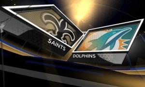 Saints-vs-Dolphins-logos
