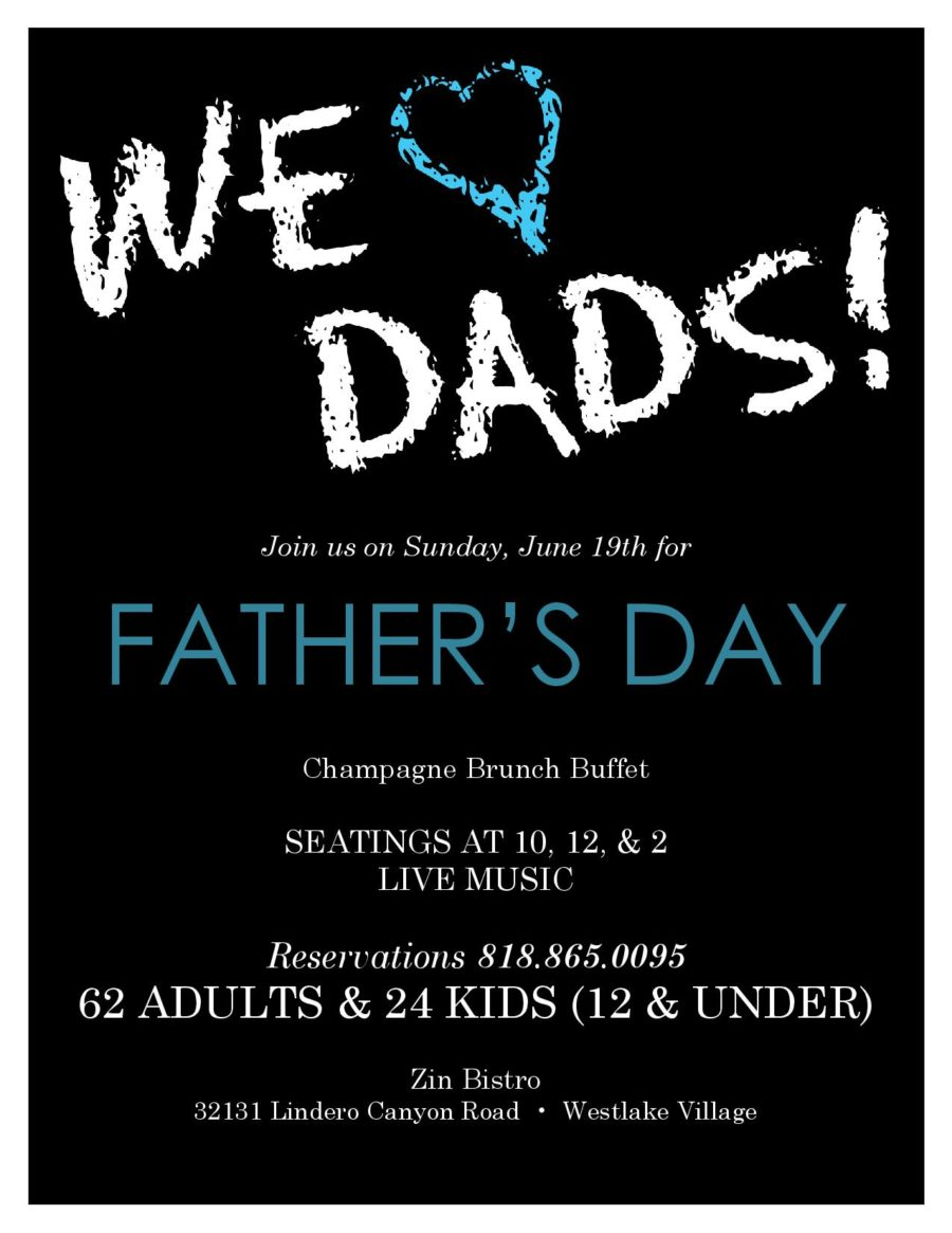 Father's Day Buffet Brunch at Zin in Westlake Village