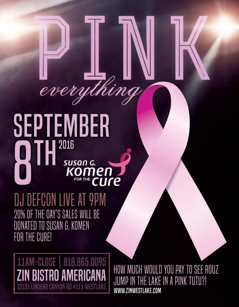 Zin Bistro Breast Cancer Fundraiser
