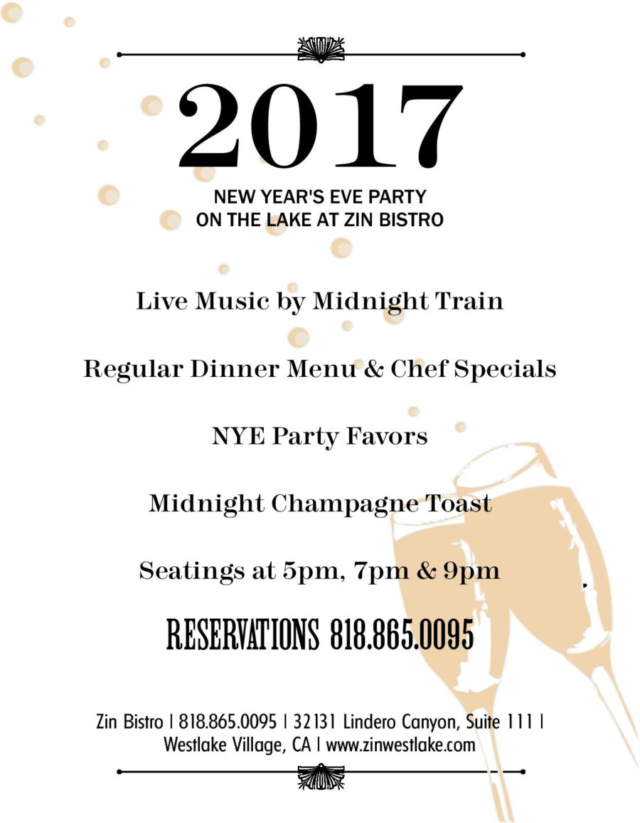 Spend New Year's Eve on the Lake at Zin Bistro