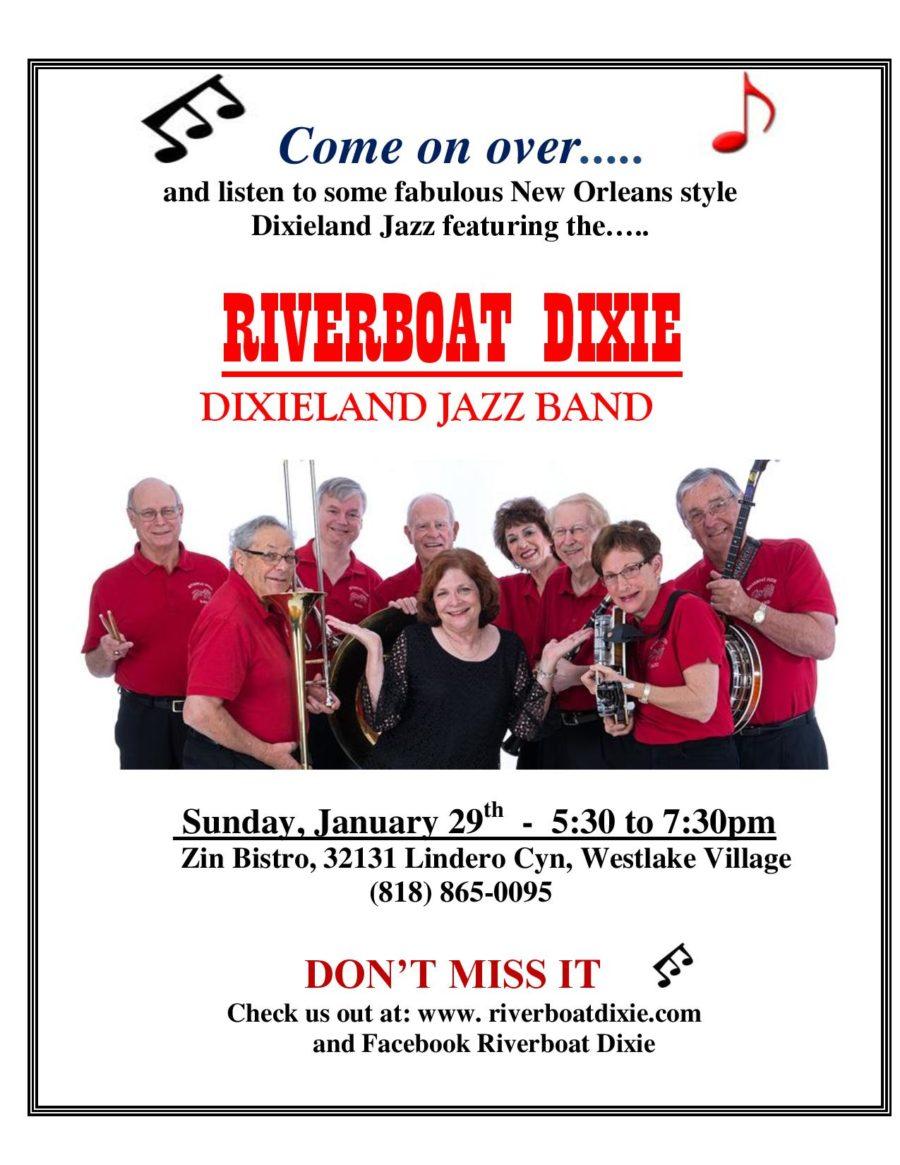 Riverboat Dixieland Jazz Band Returns to Zin Bistro