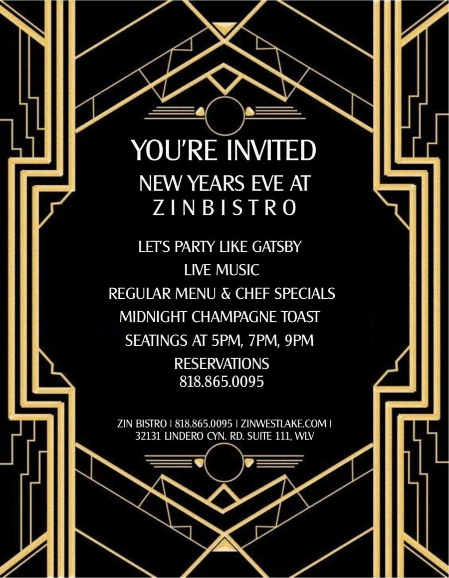New Years Eve Celebration at Zin Bistro