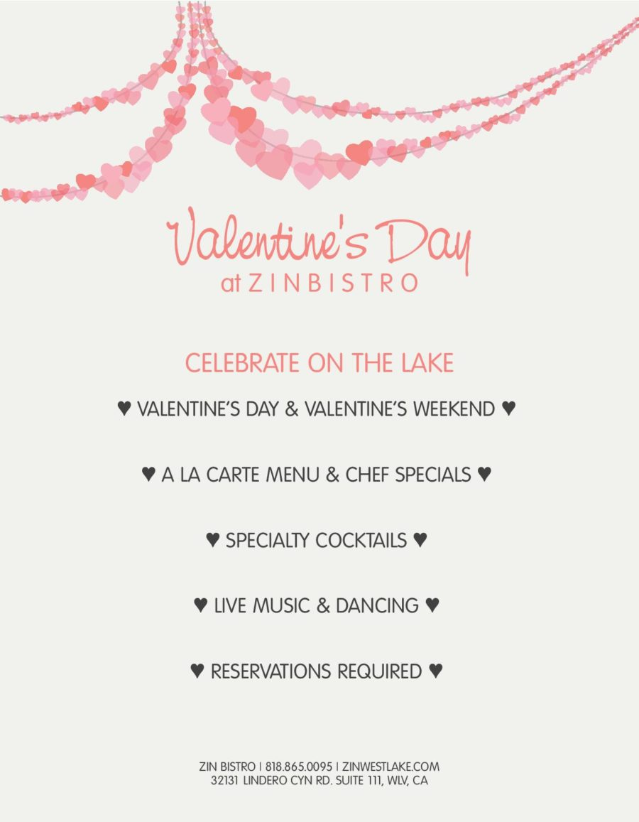 Celebrate Valentine's Day on the Lake at Zin Bistro