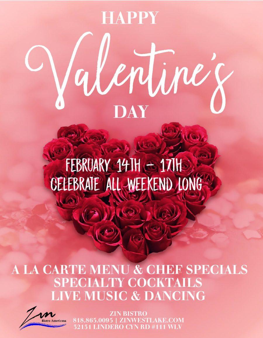 Valentine's Day Weekend at Zin Bistro